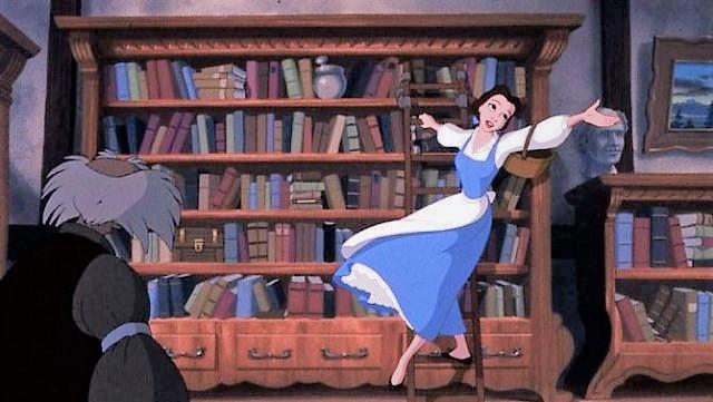bibliothèque la belle et la bete